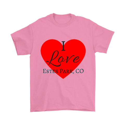 """I Love Estes Park"" Pastel Men's T-Shirts"