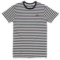 Lil Mayo Striped Embroidery Tee