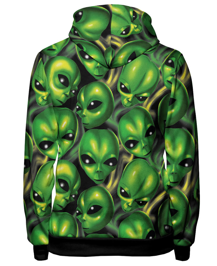 Green Mayo Pullover Hoodie, Lil Mayo, Aliens, Meme, Zone 51