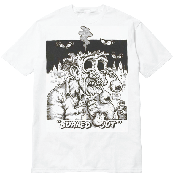 Burned Out Tee White