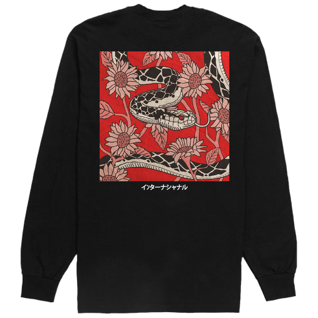 Flower Snake Long Sleeve Tee