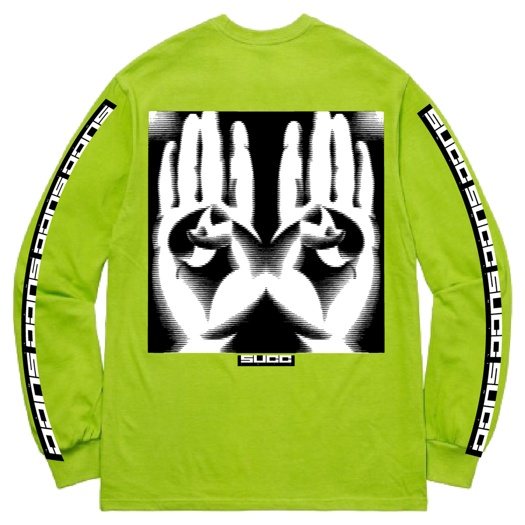 Hands Long Sleeve Neon Green