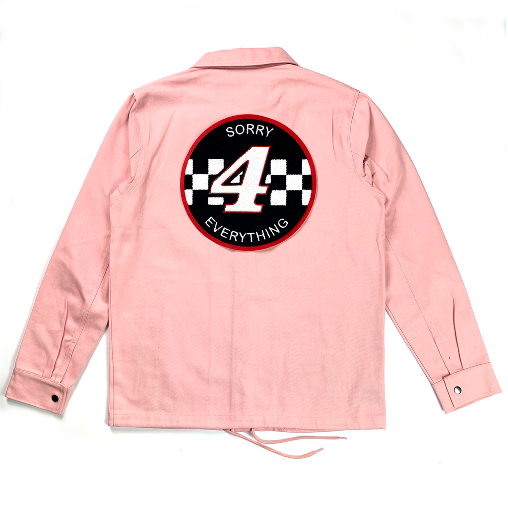 Sorry 4 Everything Canvas Coach Jacket Pink