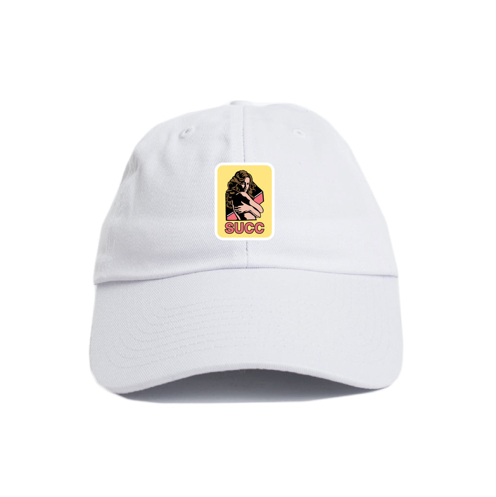 Adult Dad Hat White