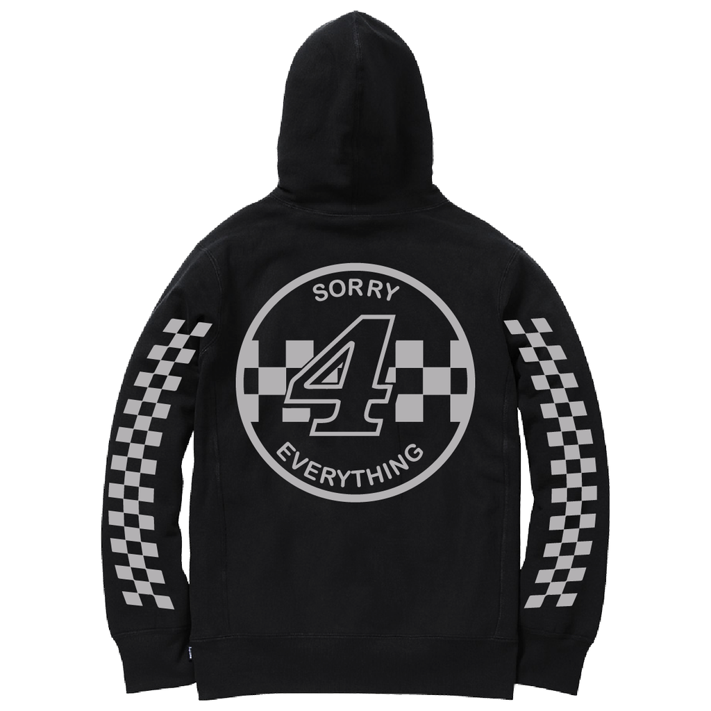 Sorry 4 Everything Reflective Hoodie Black