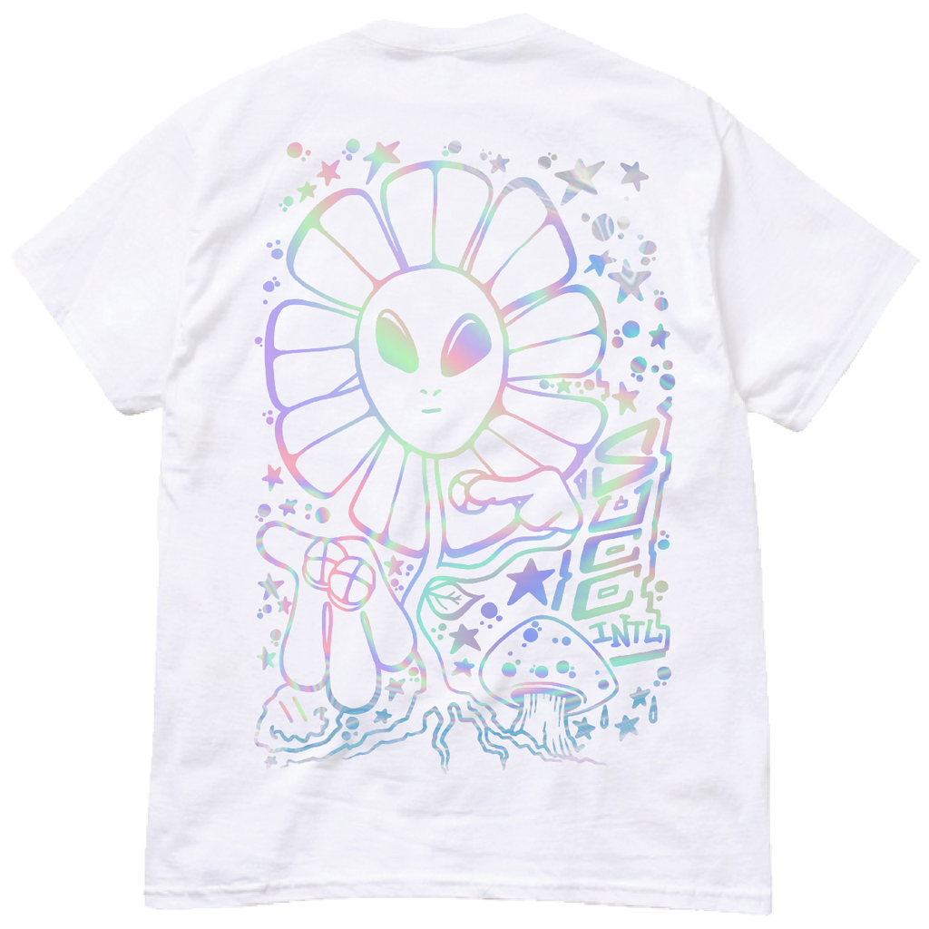 MayoPom Irredecent Tee White