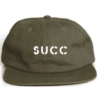 Succ Logo Six Panel Cap Olive Green