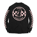 Sorry 4 Everything Long Sleeve Tee BLACK/PINK