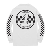 Sorry 4 Everything Long Sleeve Tee WHITE/BLACK