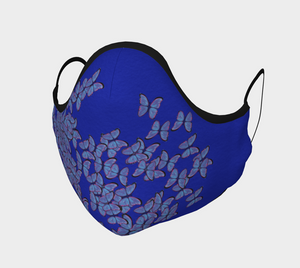 Designer Fashion & Stylish Face Covering Mask  Blue Butterly - MyFlyGirl