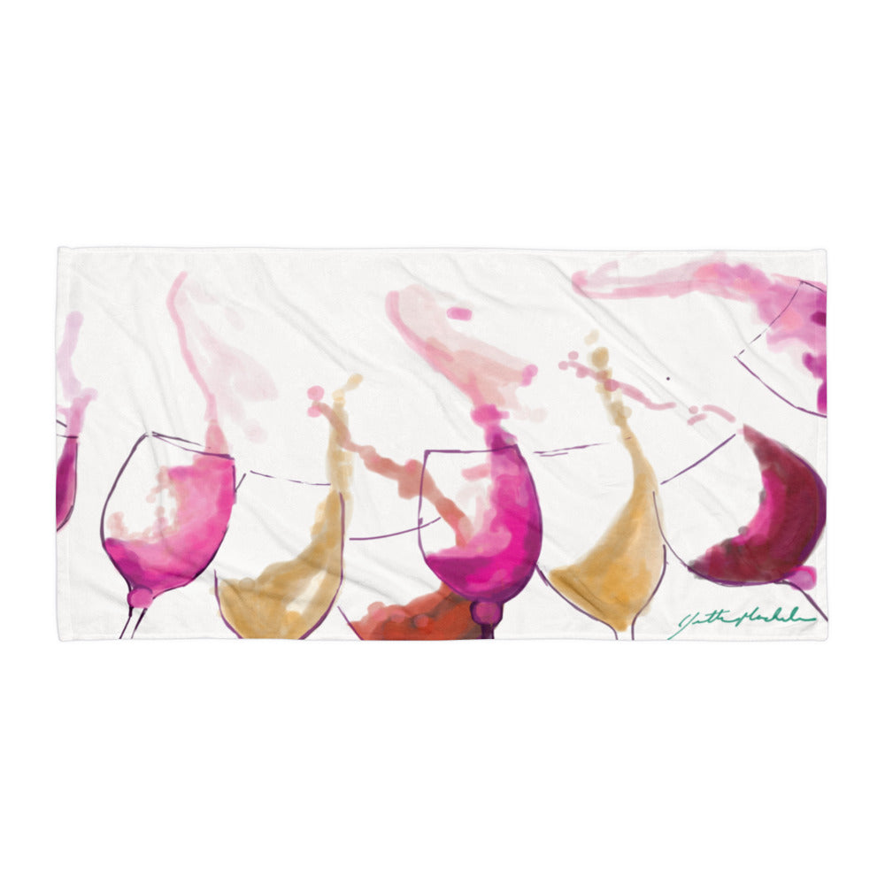 Lets Dance - Wine Inspired Beach Towel