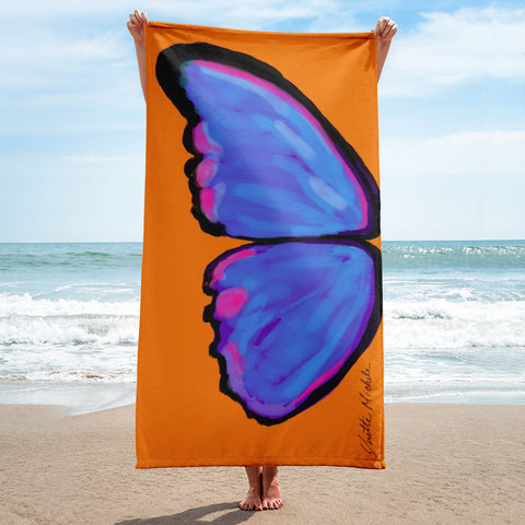 Left Wing MyFLYGirl Butterfly Oversized Beach Towel - MyFlyGirl