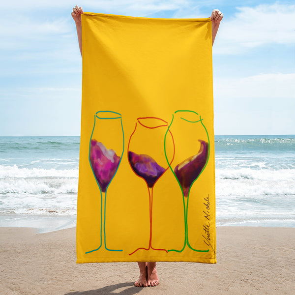 Grapes - Wine Inspired Beach Towel