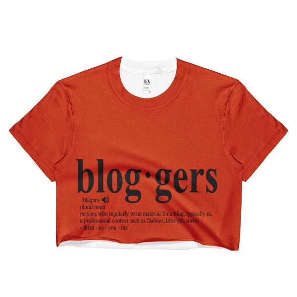 MyFlyGirl Inspired - Bloggers Tangerine Crop Top