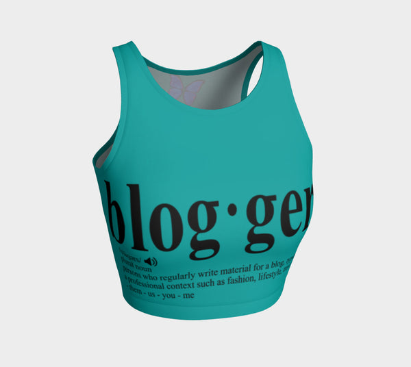 MyFLYGirl Inspired - Bloggers Sea Athletic Crop Top