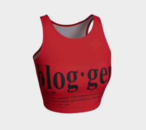 MyFLYGirl Inspired - Bloggers Women's Red athletic crop top - MyFlyGirl