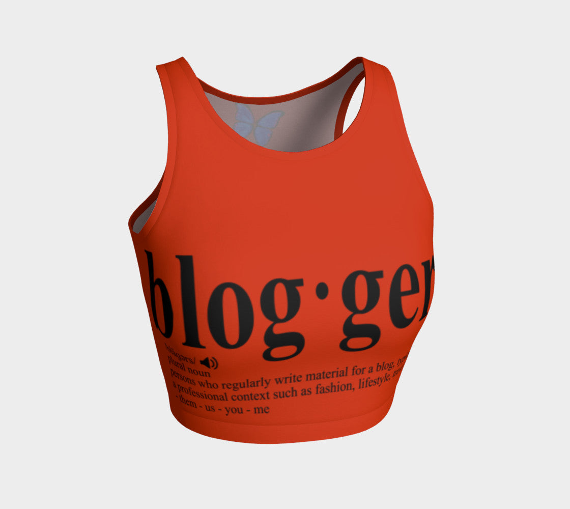 MyFLYGirl Inspired - Bloggers Orange Women's Athletic Crop Top - MyFlyGirl