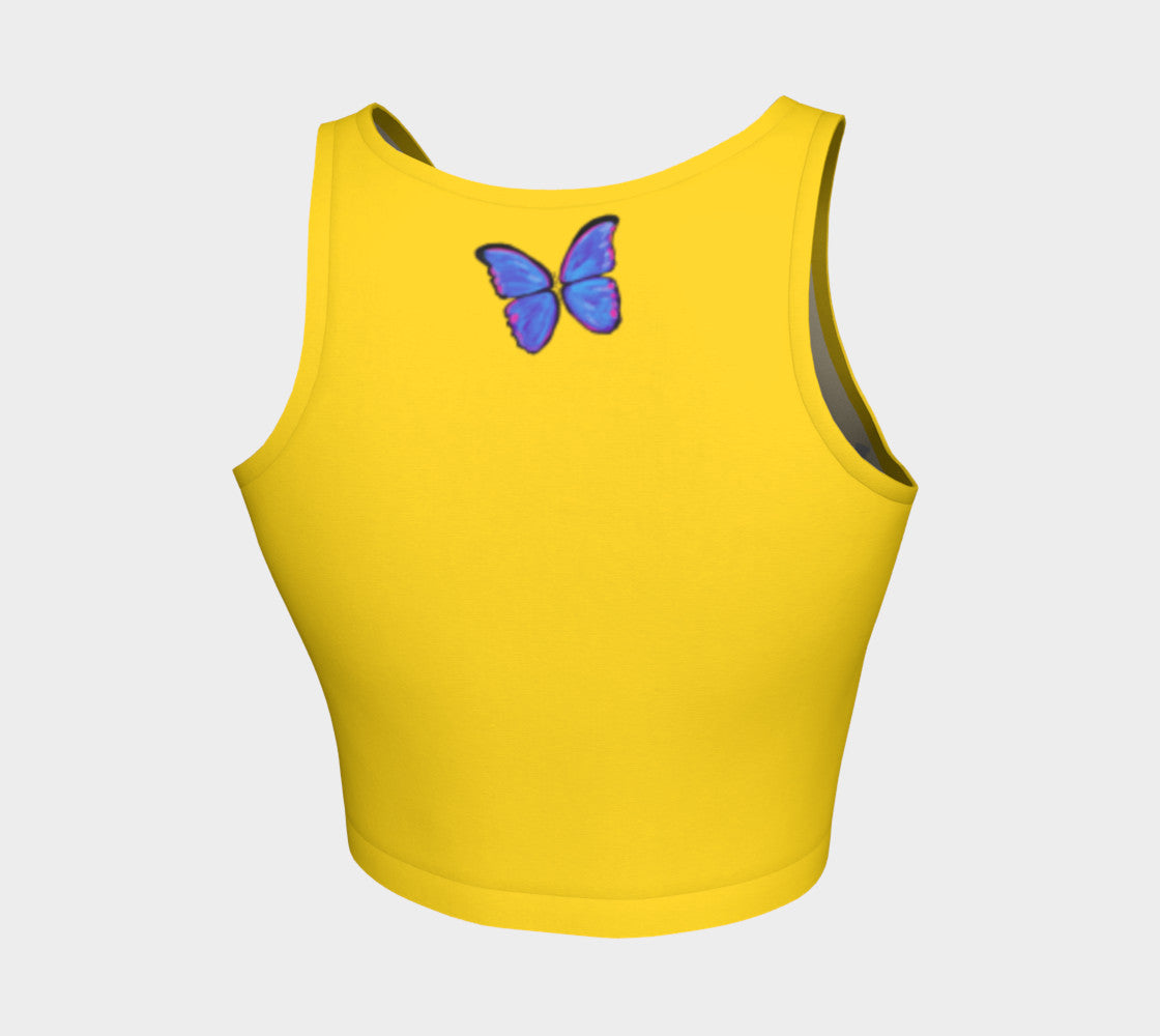 MyFLYGirl Inspired - Bloggers Lemon Athletic Crop Top