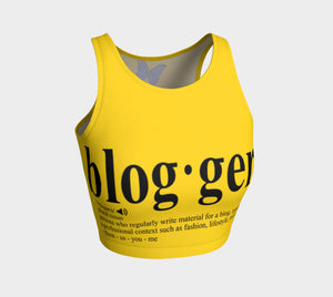 MyFLYGirl Inspired - Bloggers Yellow Women's Athletic Crop Top - MyFlyGirl