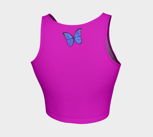 MyFLYGirl Inspired - Bloggers Women's Pink Athletic Crop Top - MyFlyGirl