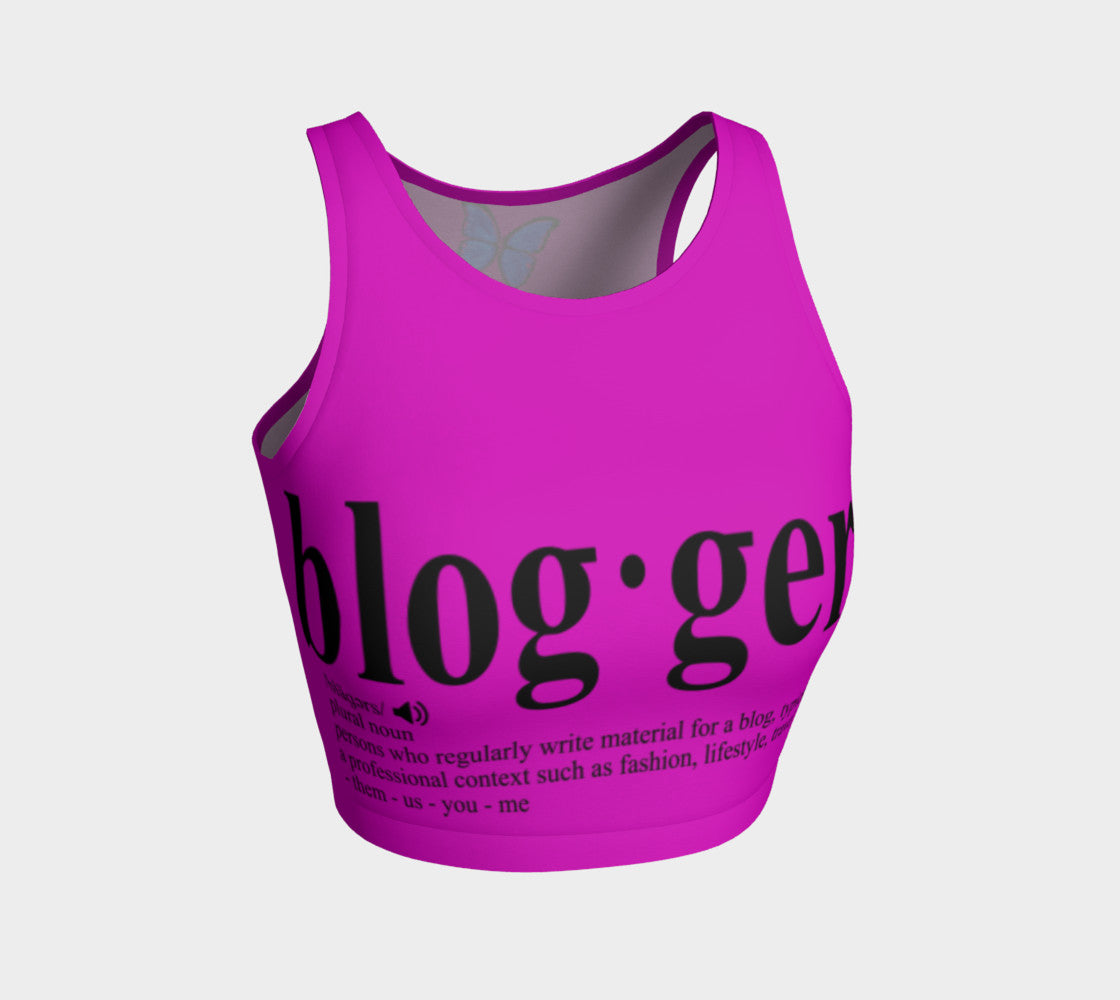 MyFLYGirl Inspired - Bloggers Pink Athletic Crop Top