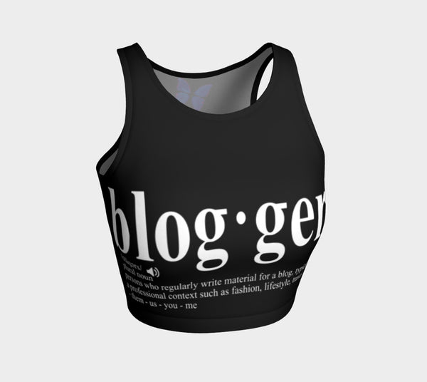 MyFLYGirl Inspired - Bloggers Women's Athletic crop top in black - MyFlyGirl