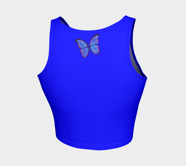 MyFLYGirl Inspired - Bloggers Blue Women's Athletic Crop Top - MyFlyGirl