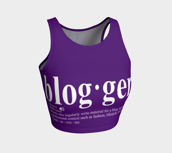 MyFLYGirl Inspired - Bloggers Purple Womens Athletic Crop Top - MyFlyGirl