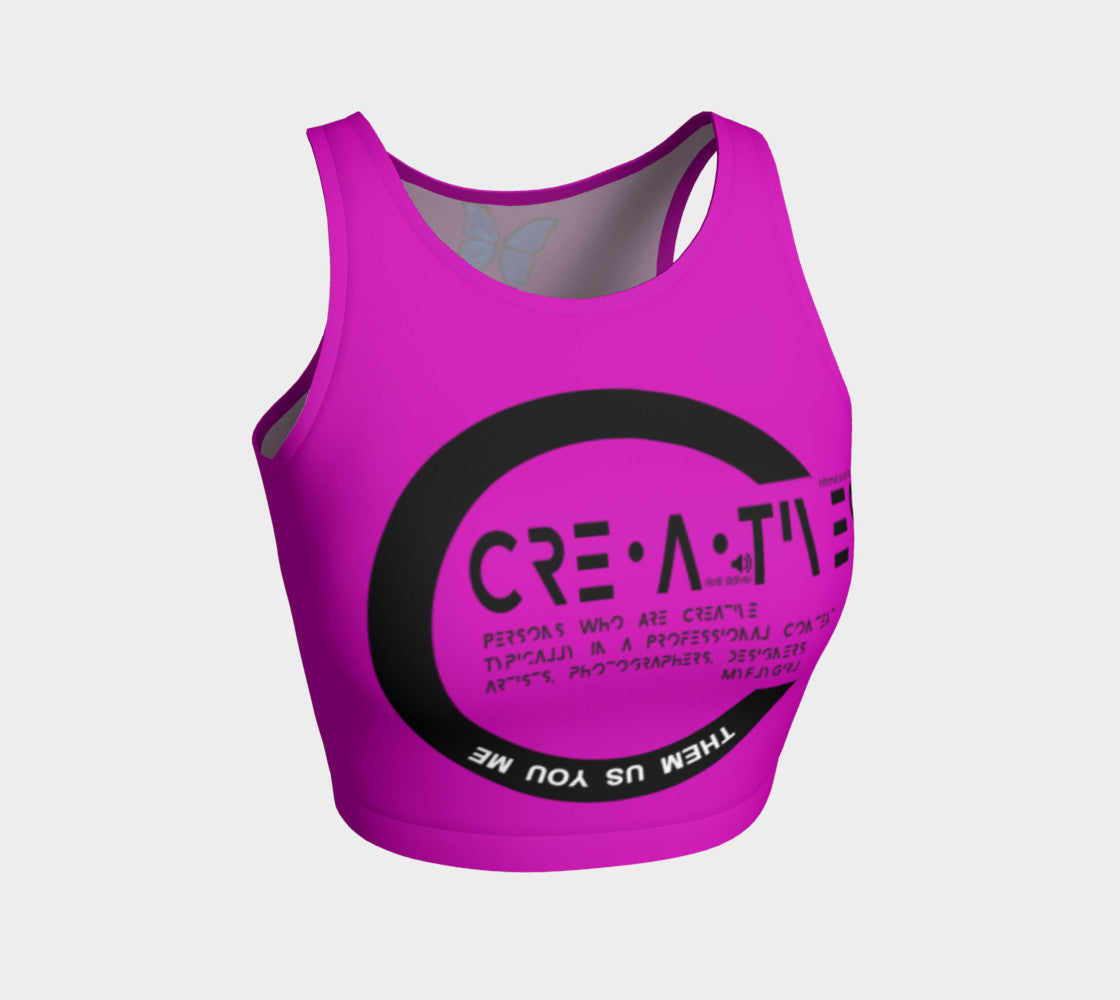 Creatives - Inspired Pink Athletic Crop Top - MyFlyGirl