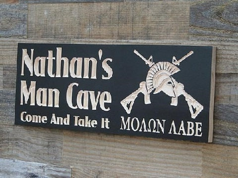 man cave signs, wood signs, personalized signs, custom wood signs, custom wooden signs, personalized gifts, wooden man cave sign, personalized man cave sign