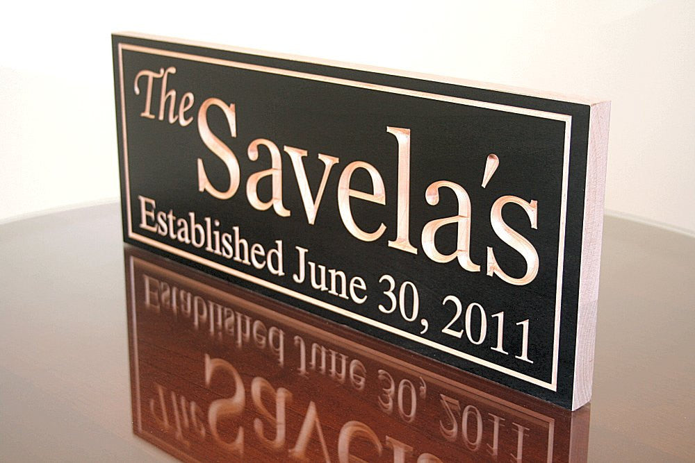 5th Anniversary Gift, Custom Established Sign, Benchmark Custom Signs Maple VV