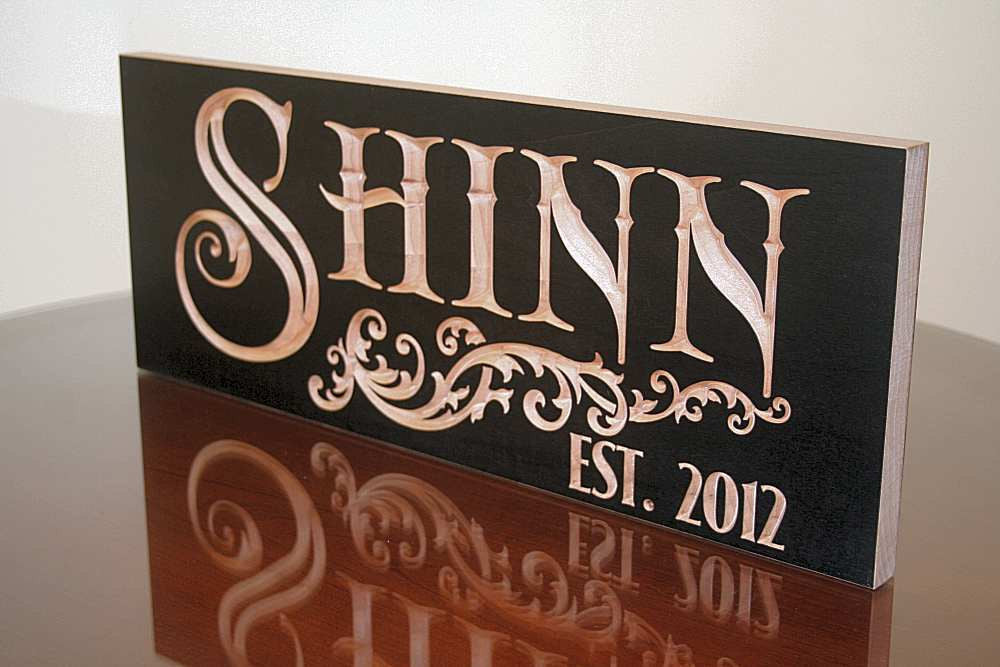personalized wood sign for 5th Anniversary