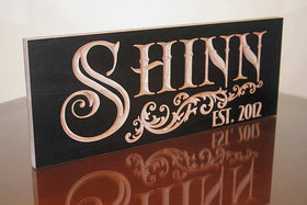 5th Anniversary Gift, Custom Established Sign, Benchmark Custom Signs Maple SN