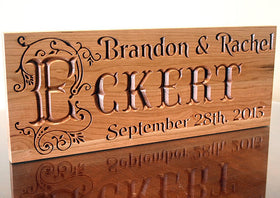 5th Anniversary Personalized Wood Plaque
