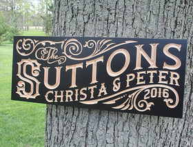 Wood Sign for 5th Anniversary