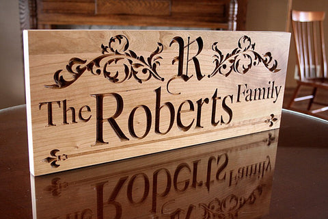 5th Anniversary Sign, Family Name Sign,  Benchmark Custom Signs Cherry RR