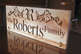5th Anniversary Sign, Family Name Sign