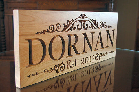 Carved Wood Plaques for 5th Anniversary