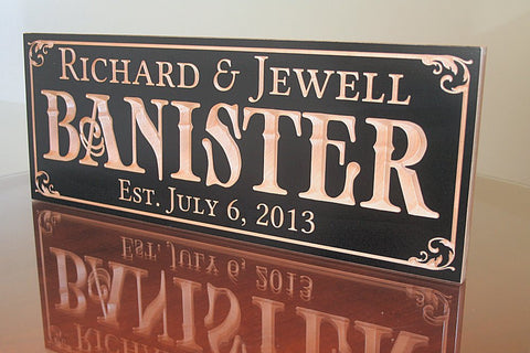 5th Anniversary Sign, Last Name Established Sign