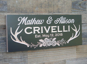 Custom Made Wood Sign