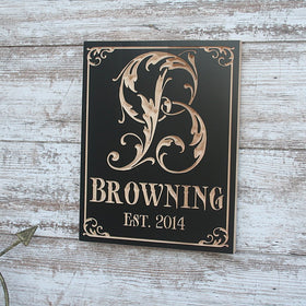 Custom Monogram Sign