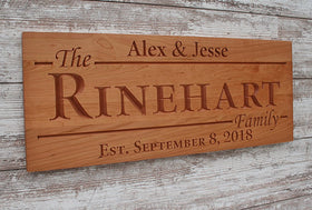 Important Date Sign, Family Name Sign