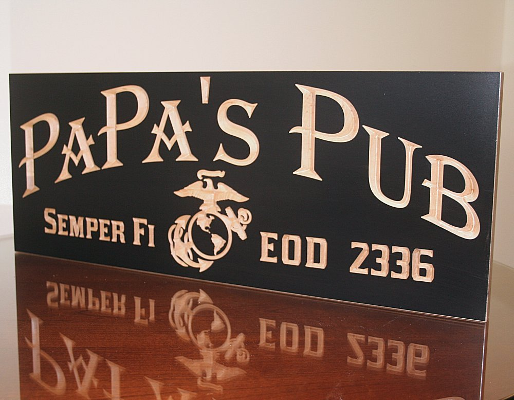 Military Man Cave Sign