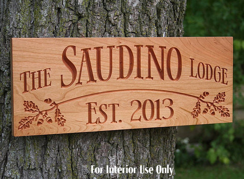 Personalized Cabin Sign