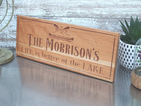 Custom Rustic Sign for Cabin
