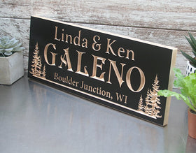 Custom Cabin Signs, Rustic Wooden Name Sign