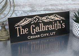 Rustic Sign for Cabin, Custom Mountain Home Sign