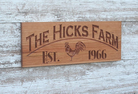 Farm Name Sign