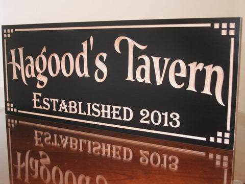 Brewery Sign, Personalized Beer Sign, Wooden Man Cave Sign, Personalized Pub Sign, Benchmark Custom Signs Maple DT