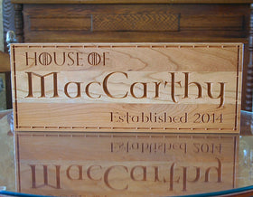 Celtic Sign, Personalized Family Name Sign, Established Sign, Family Name Sign, Benchmark Custom Signs Cherry GT